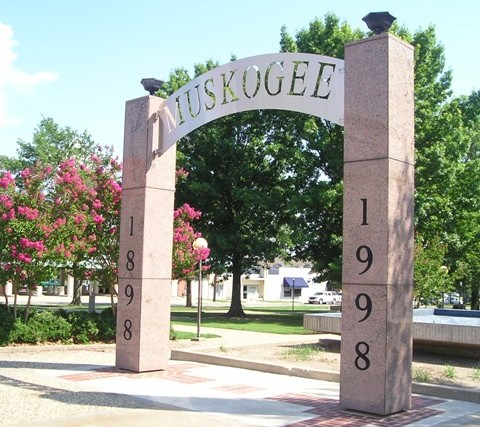 Muskogee Park Sign